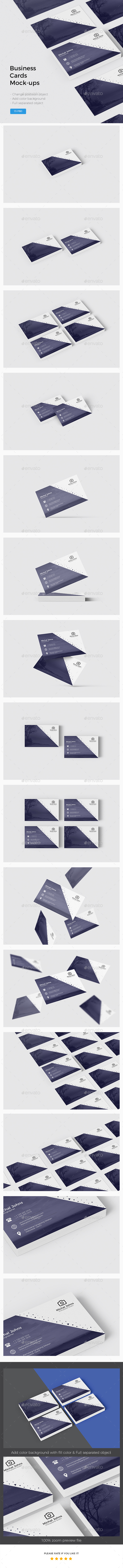GraphicRiver Business Cards Mockup 21145819