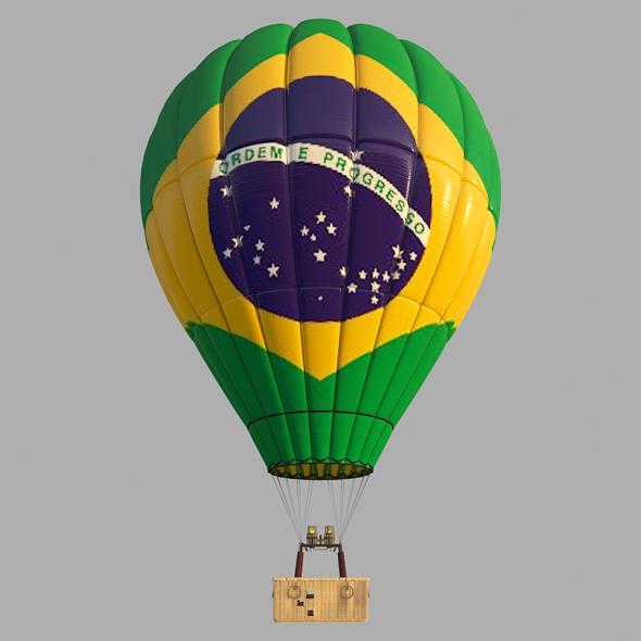 BrasilFlag-Parachute - 3DOcean Item for Sale