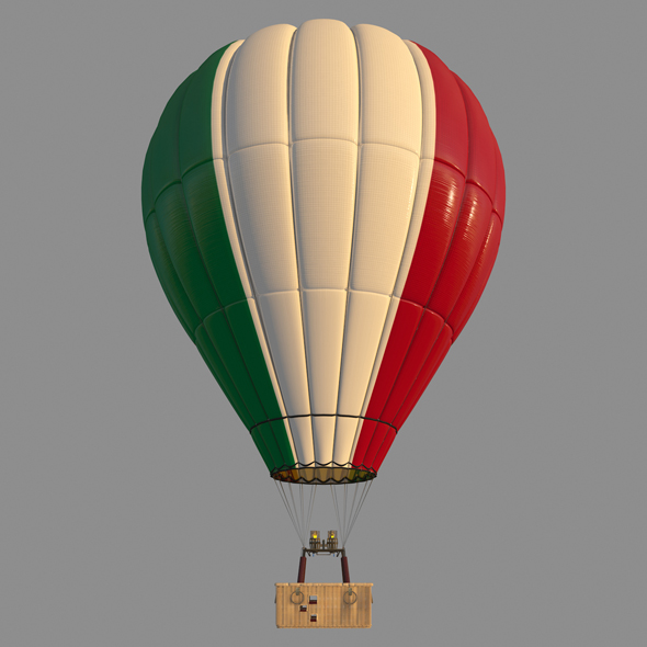 ItalyFlag-Parachute - 3DOcean Item for Sale