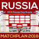 Matchplan 2018 Russia Soccer Poster - GraphicRiver Item for Sale