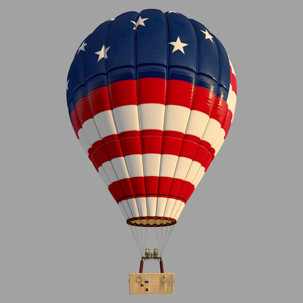 USAFlag-Parachute - 3DOcean Item for Sale