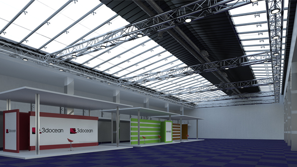 VRAY Exhibition Hall Setup
