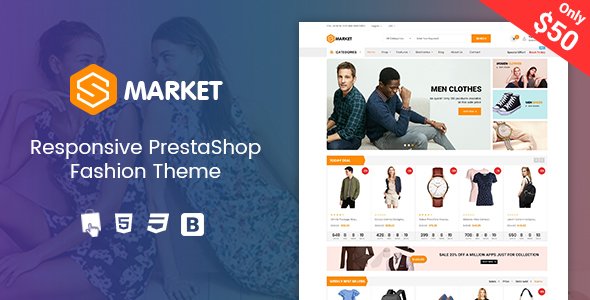 Smarket - Clothing Responsive PrestaShop 1.7 Theme - Fashion PrestaShop
