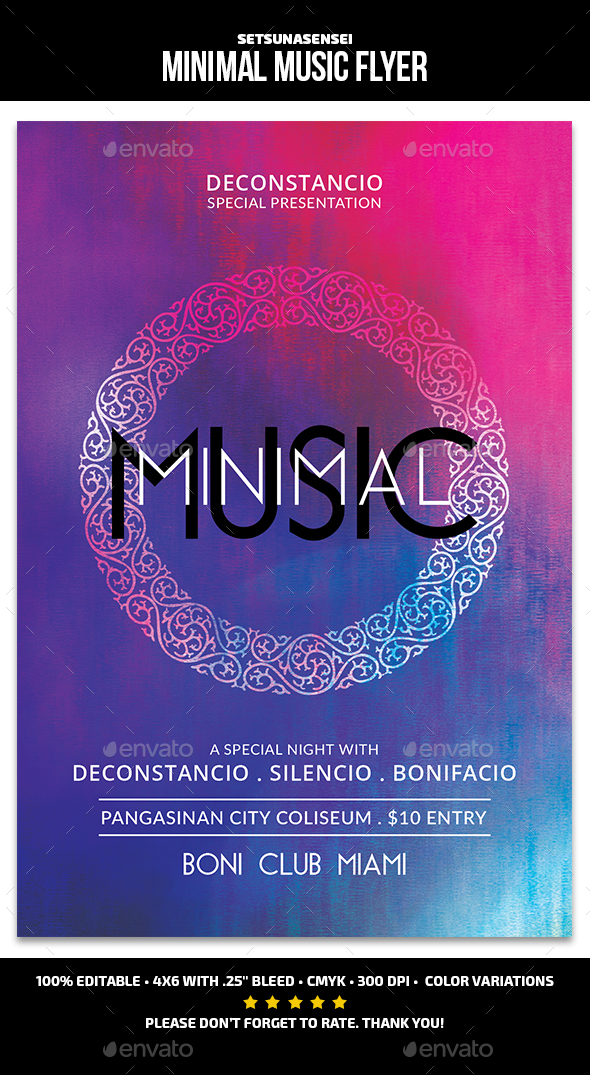 Minimal Music Flyer - Events Flyers