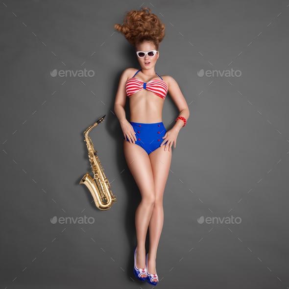 Erotic jazz. - Stock Photo - Images
