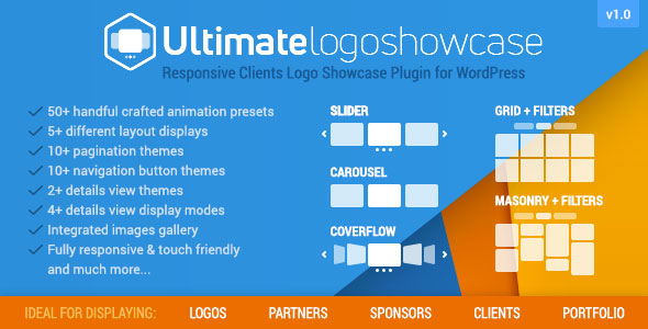 CodeCanyon Ultimate Logo Showcase Full Responsive Clients Logo Gallery Plugin for WordPress 21146373