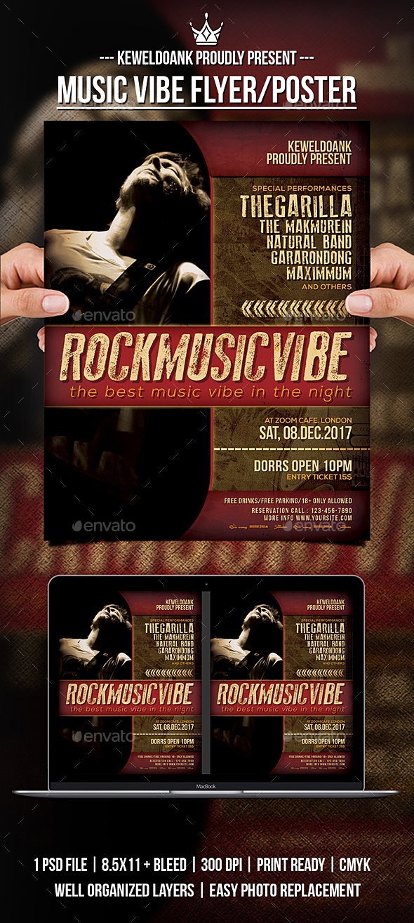Music Vibe Flyer / Poster - Concerts Events