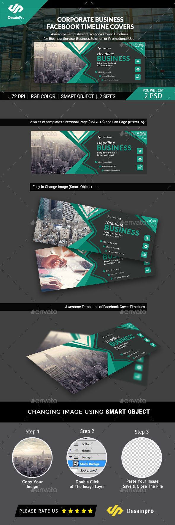 GraphicRiver Corporate Business Facebook Timeline Covers AR 21146427
