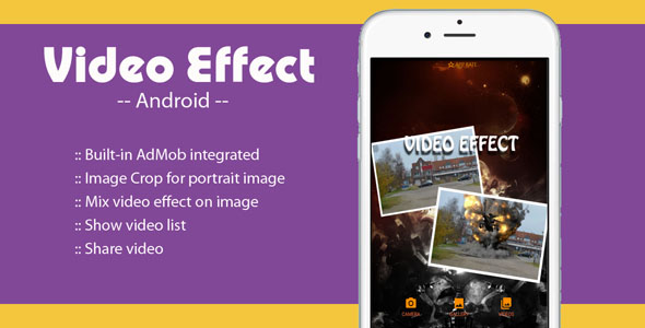 Video Effect On Image -  Android Source Project - CodeCanyon Item for Sale
