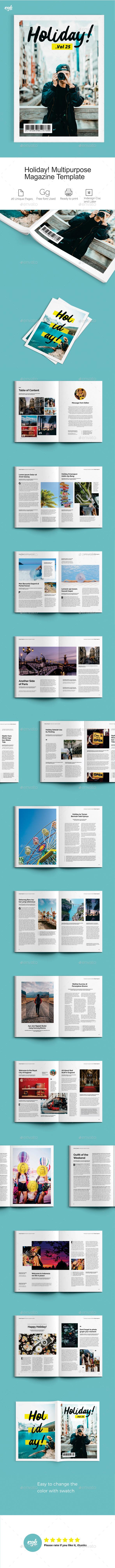 GraphicRiver Holiday Magazine 21146586
