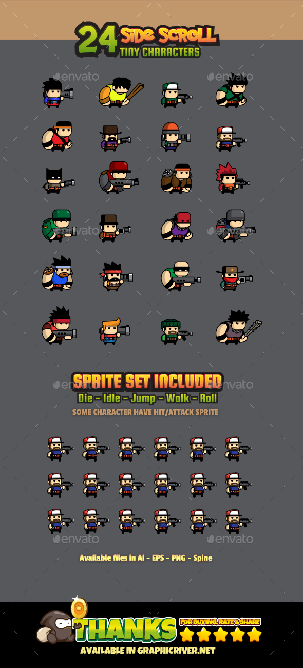 GraphicRiver 24 Tiny Characters 21146603