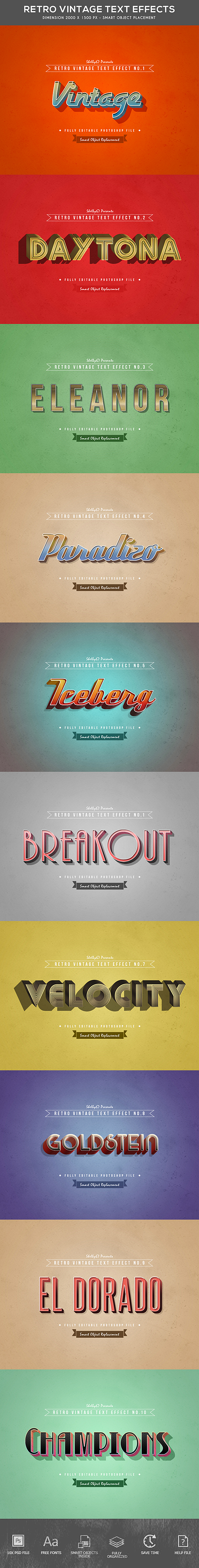 GraphicRiver Retro Vintage Text Effects 21142668