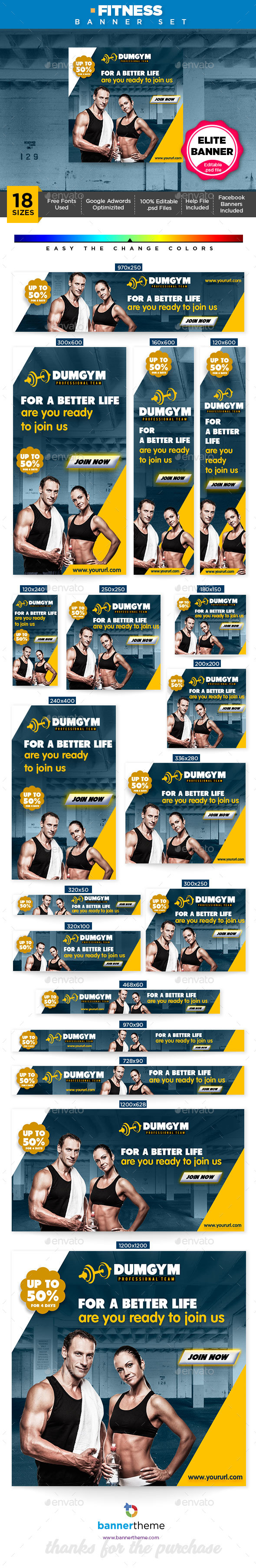 GraphicRiver Fitness Banner 21146636