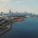 View From the Top on the Bay with Boats, Nice Panoramic View of Chicago From the Top - VideoHive Item for Sale