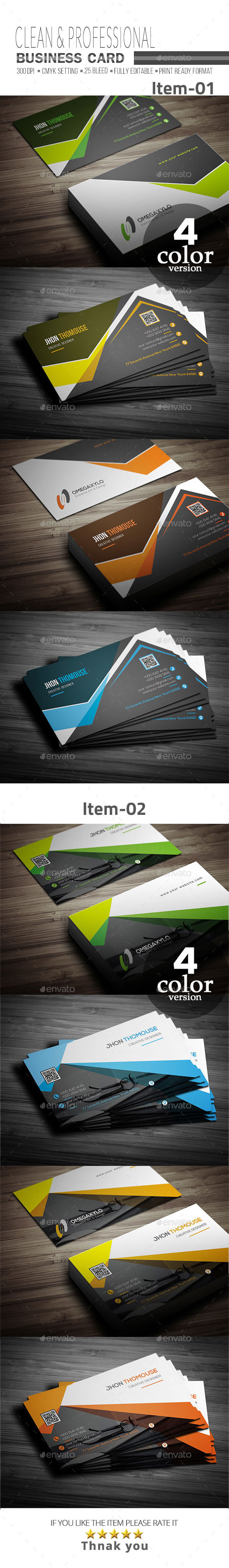 GraphicRiver Business Card Bundle 2 In 1 21146991