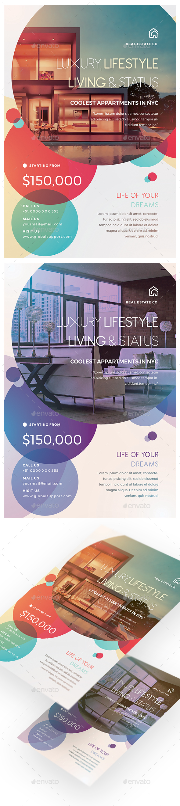 Real Estate Creative Flyer - Flyers Print Templates