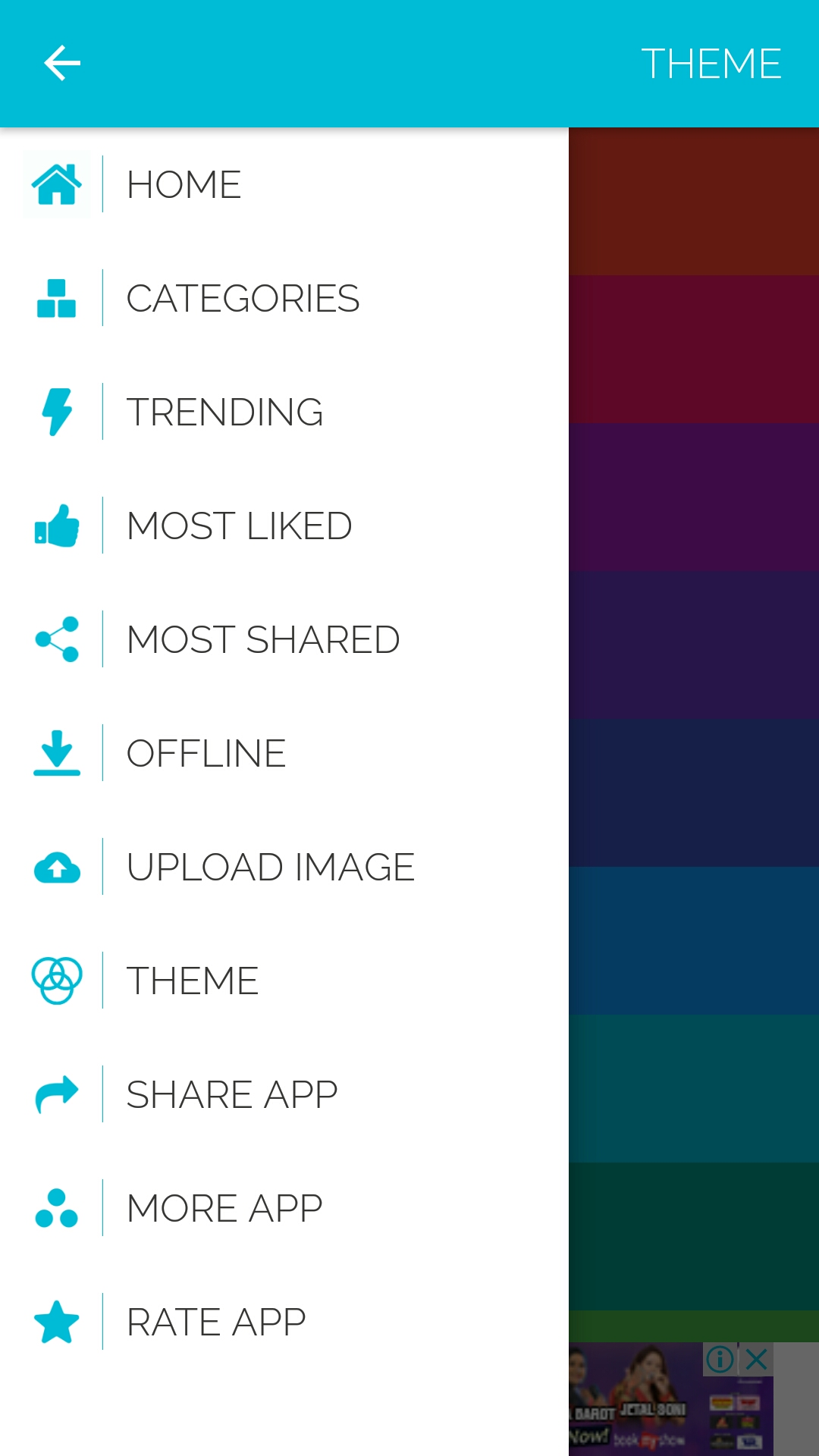 multi purpose wallpaper template for android with php cms admin panel