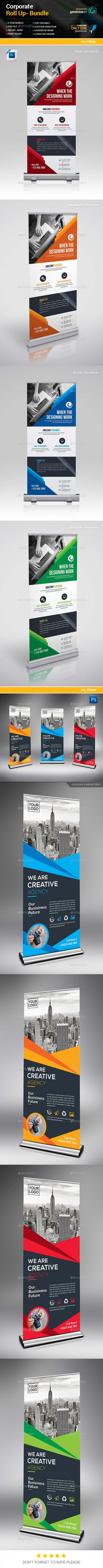 GraphicRiver Roll-Up Banner Bundle 2 in 1 21147274