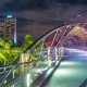 The Helix Bridge at Night in Singapore. August 2017 - VideoHive Item for Sale