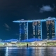 Marina Bay Sands Hotel at Night, Singapore. August 2017 - VideoHive Item for Sale