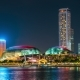 Esplanade - Theatres on the Bay, at Night Singapore. August 2017 - VideoHive Item for Sale