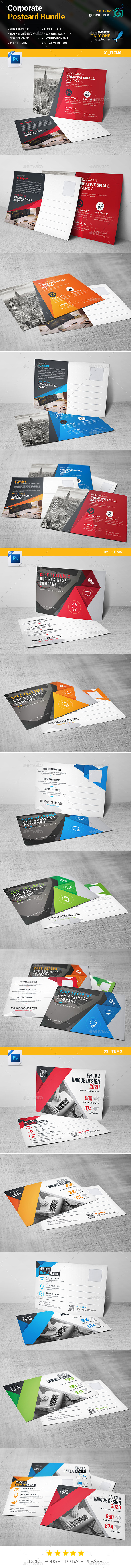Postcard Bundle 3 in 1 - Signage Print Templates