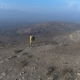 Aerial View One Man Walking on the Fog Mountain - VideoHive Item for Sale