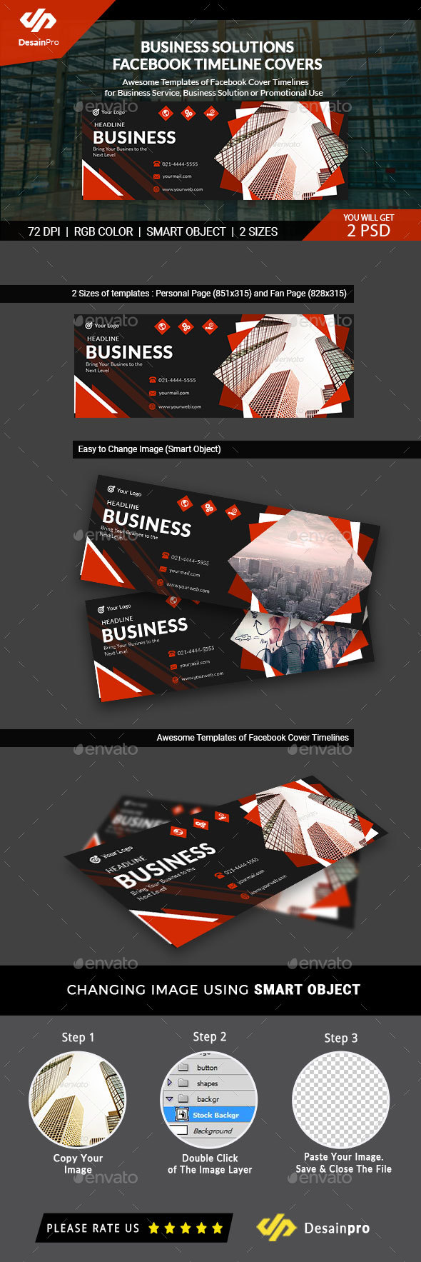 GraphicRiver Business Solutions FB Cover Timeline AR 21147395