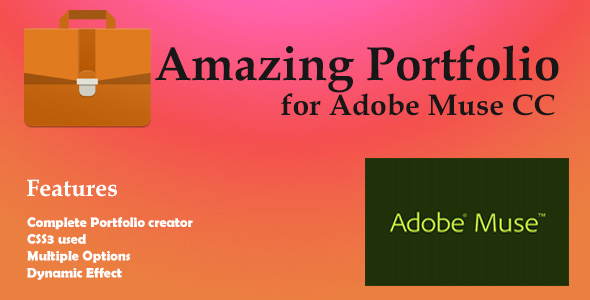 Amazing Porfolio for Adobe Muse