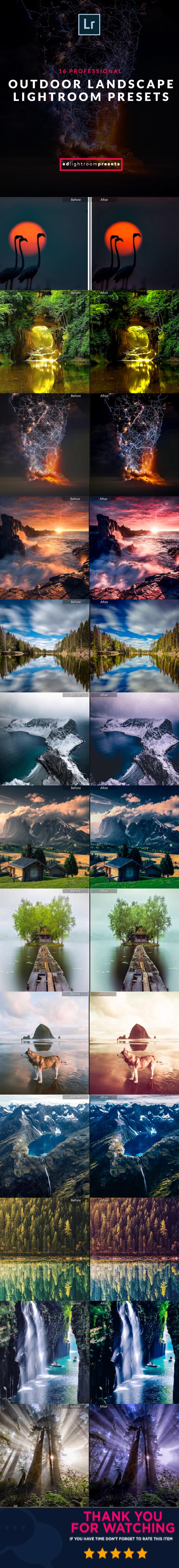 GraphicRiver 15 Pro Ultra Landscape Outdoor Lightroom Presets 21147438