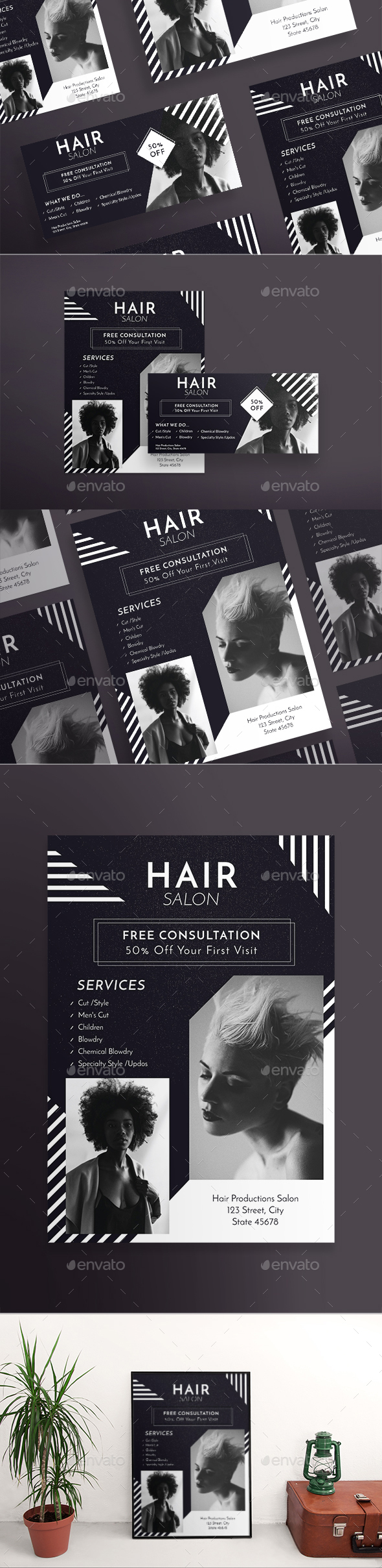 GraphicRiver Hair Salon Flyers 21147561
