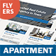 Apartment For Rent Flyers 3 – 4 Options