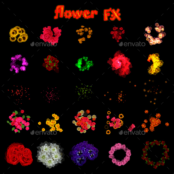 Flower Effects - Sprites Game Assets