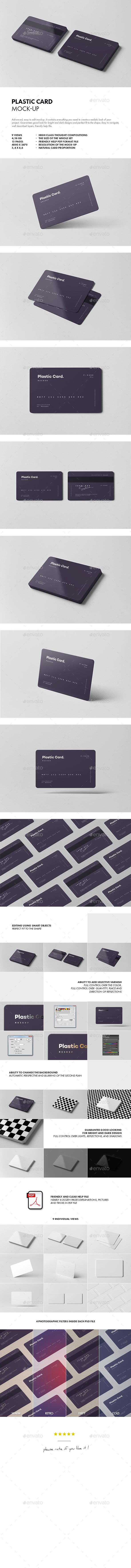 GraphicRiver Plastic Card Mock-up 21147824