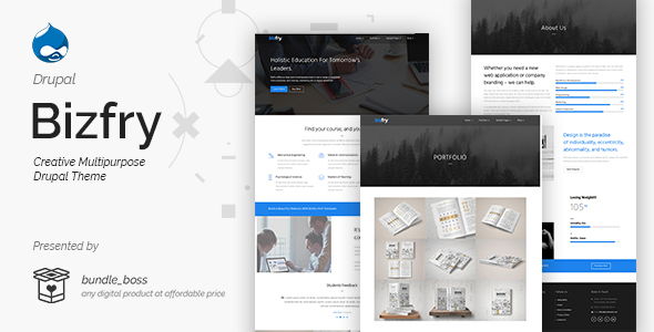 Image of Bizfry - Creative Multipurpose Drupal 8 Theme