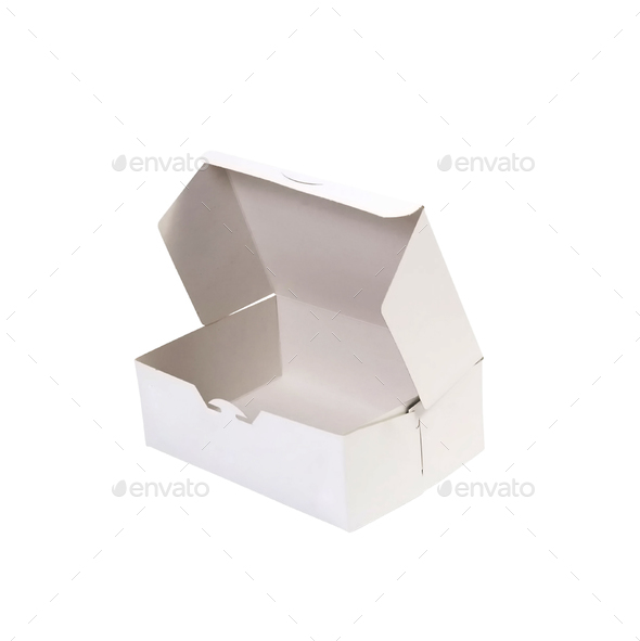 donut box isolated - Stock Photo - Images
