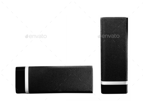 two black speaker - Stock Photo - Images