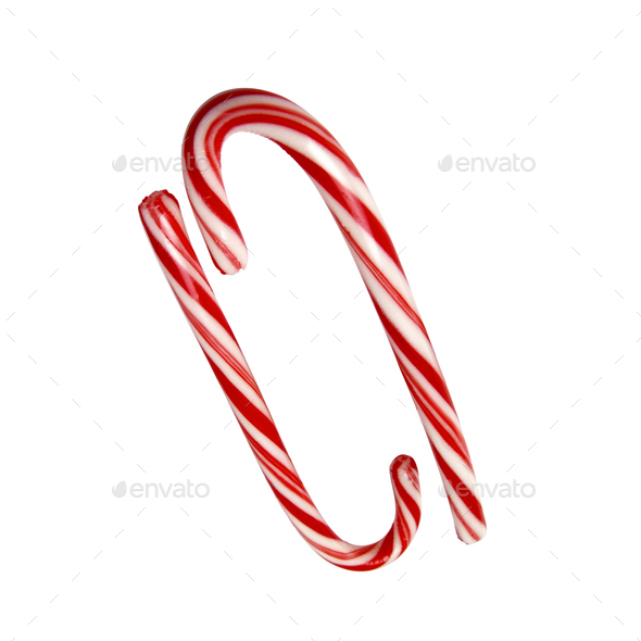 big candys cane isolated with path - Stock Photo - Images