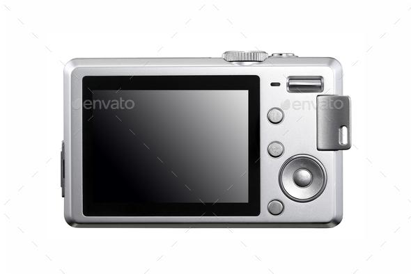photocamera isolated on white background - Stock Photo - Images