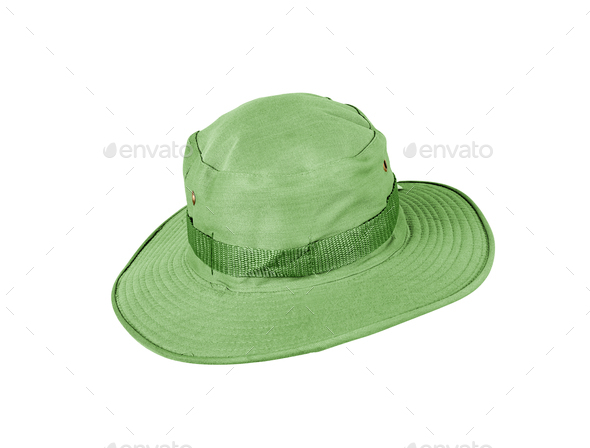 Green hat isolated on white background. - Stock Photo - Images
