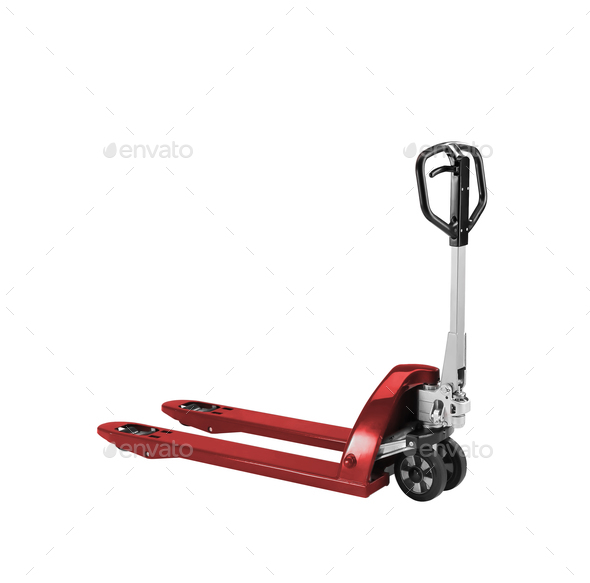 manual loader isolated on white - Stock Photo - Images