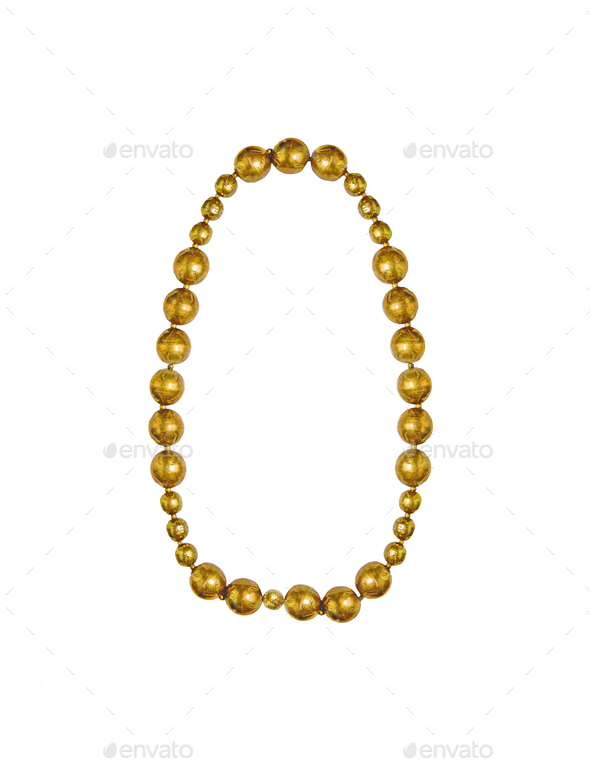 Gold Chain Isolated - Stock Photo - Images