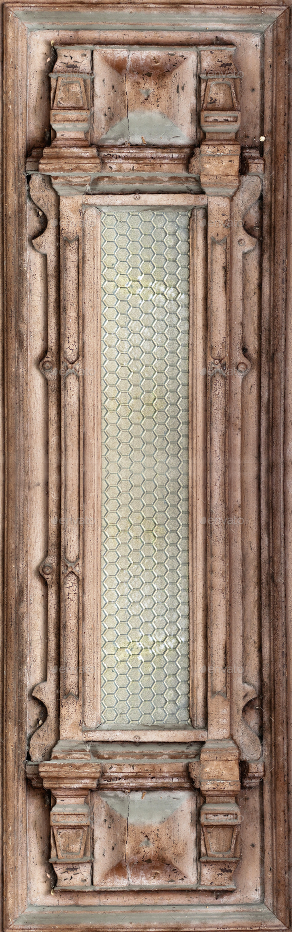 Beautiful antique wooden door - Stock Photo - Images