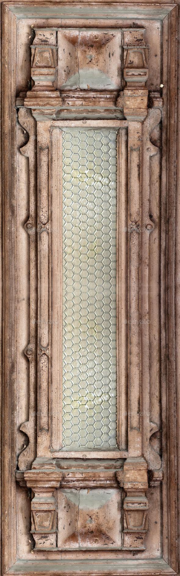 Beautiful antique wooden door - Stock Photo - Images