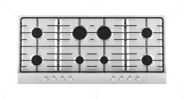 Close up image of the gas stove - Stock Photo - Images