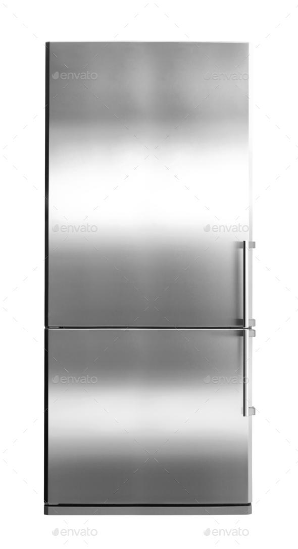 Modern Refrigerator isolated - Stock Photo - Images