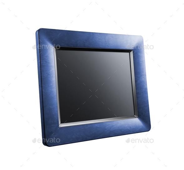 photo frame isolated on white - Stock Photo - Images