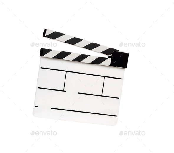 Movie clapper isolated - Stock Photo - Images