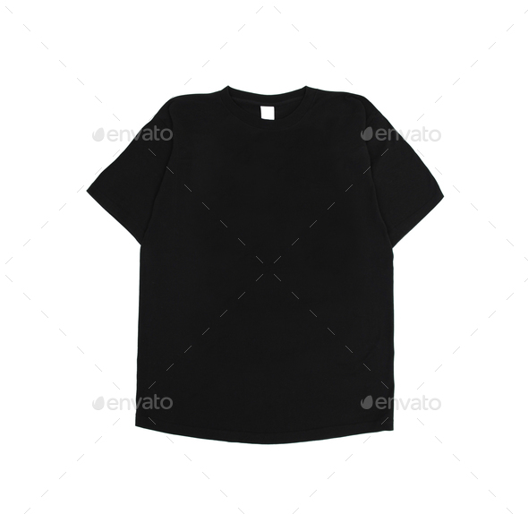 Black t-shirt - Stock Photo - Images