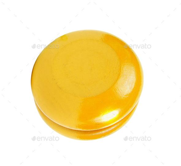 Yellow yo yo isolated - Stock Photo - Images